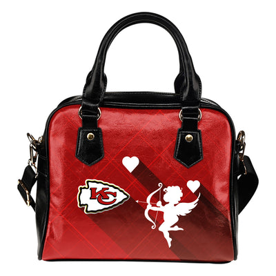 Superior Cupid Love Delightful Kansas City Chiefs Shoulder Handbags
