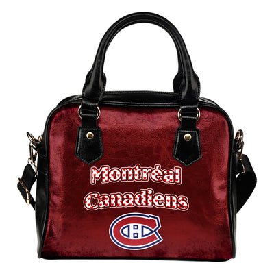 Love Icon Mix Montreal Canadiens Logo Meaningful Shoulder Handbags