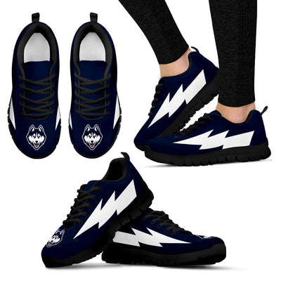 Nice Style Connecticut Huskies Sneakers Thunder Lightning Amazing Logo