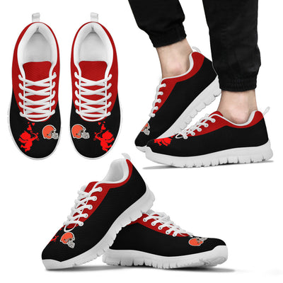 Cute Cupid Angel Background Cleveland Browns Sneakers