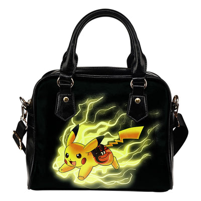 Pikachu Angry Moment Baltimore Orioles Shoulder Handbags