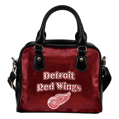 Love Icon Mix Detroit Red Wings Logo Meaningful Shoulder Handbags