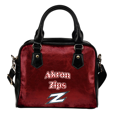 Love Icon Mix Akron Zips Logo Meaningful Shoulder Handbags