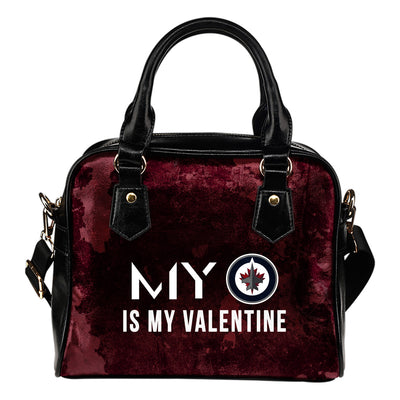 My Perfectly Love Valentine Fashion Winnipeg Jets Shoulder Handbags