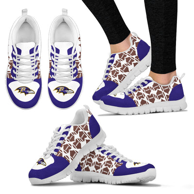 Great Football Love Frame Baltimore Ravens Sneakers