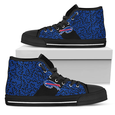 Perfect Cross Color Absolutely Nice Buffalo Bills High Top Shoes