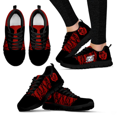 Rose Plant Gorgeous Lovely Logo Akron Zips Sneakers