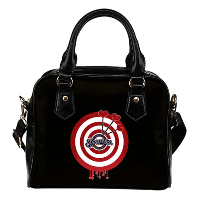 Valentine Sweet Milwaukee Brewers Dart Couple Love Shoulder Handbags