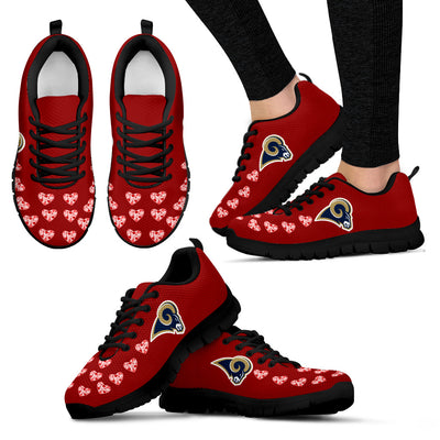 Love Extreme Emotion Pretty Logo Los Angeles Rams Sneakers