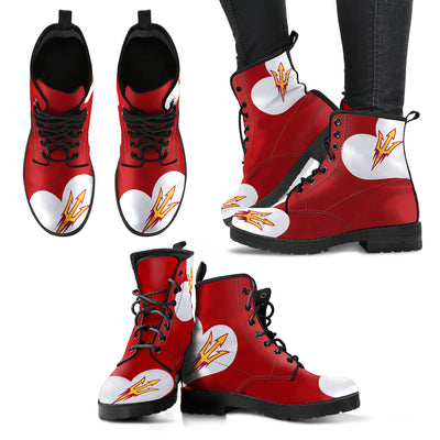 Enormous Lovely Hearts With Arizona State Sun Devils Boots