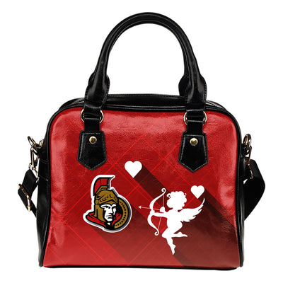 Superior Cupid Love Delightful Ottawa Senators Shoulder Handbags