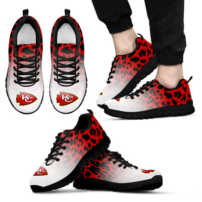 Leopard Pattern Awesome Kansas City Chiefs Sneakers