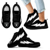 Cool Style Oakland Raiders Sneakers Thunder Lightning Amazing Logo