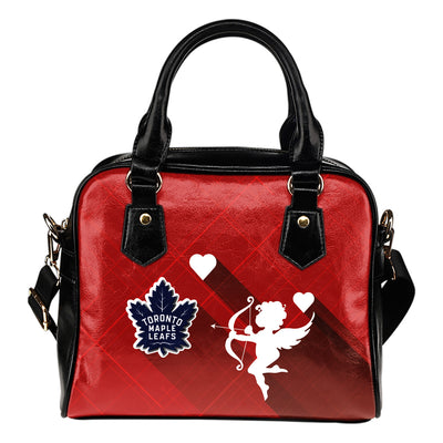 Superior Cupid Love Delightful Toronto Maple Leafs Shoulder Handbags