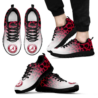 Leopard Pattern Awesome Alabama Crimson Tide Sneakers