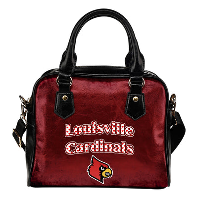 Love Icon Mix Louisville Cardinals Logo Meaningful Shoulder Handbags