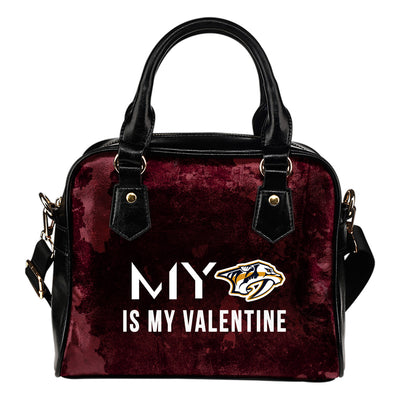 My Perfectly Valentine Fashion Nashville Predators Shoulder Handbags