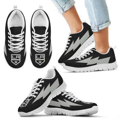 Beautiful Los Angeles Kings Sneakers Thunder Lightning Amazing Logo