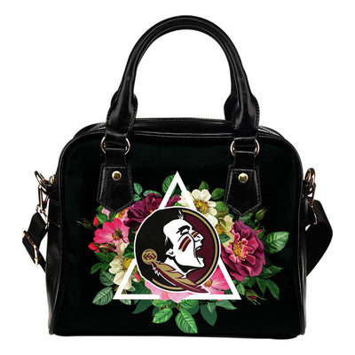 Floral Rose Valentine Logo Florida State Seminoles Shoulder Handbags