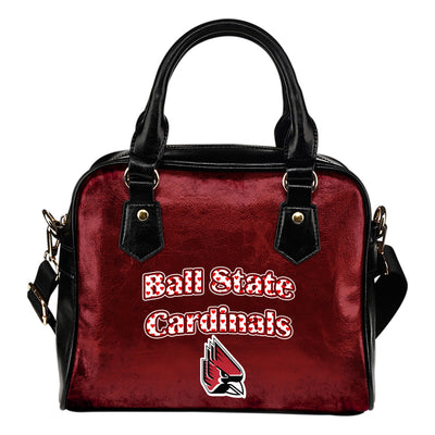 Love Icon Mix Ball State Cardinals Logo Meaningful Shoulder Handbags