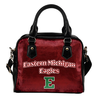 Love Icon Mix Eastern Michigan Eagles Logo Meaningful Shoulder Handbags