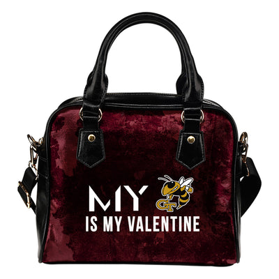 My Valentine Fashion Georgia Tech Yellow Jackets Shoulder Handbags