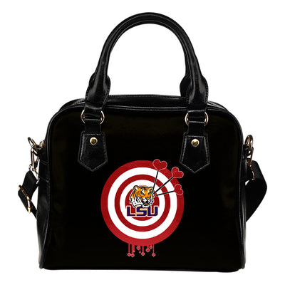 Valentine Sweet LSU Tigers Dart Couple Love Shoulder Handbags