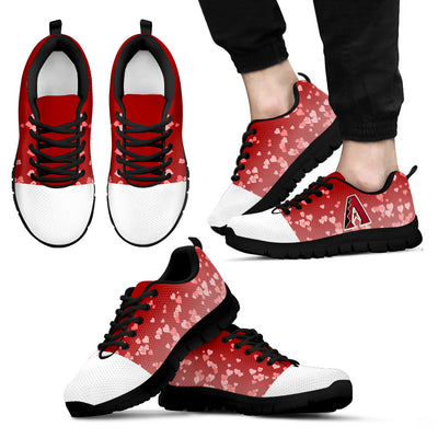 Heart Flying Valentine Sweet Logo Arizona Diamondbacks Sneakers