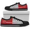 Cool Simple Design Vertical Stripes Washington Nationals Low Top Shoes