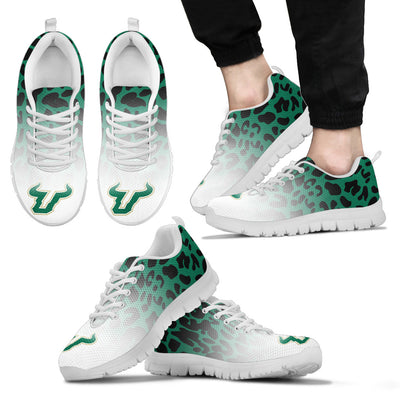 Leopard Pattern Awesome South Florida Bulls Sneakers