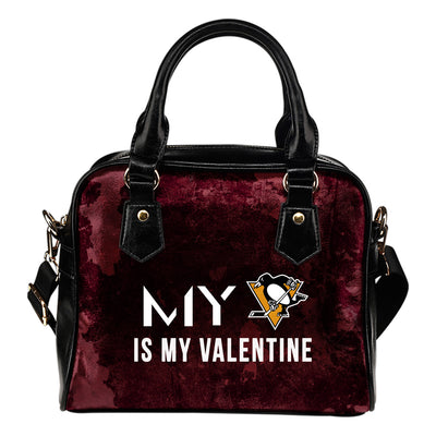 My Perfectly Valentine Fashion Pittsburgh Penguins Shoulder Handbags