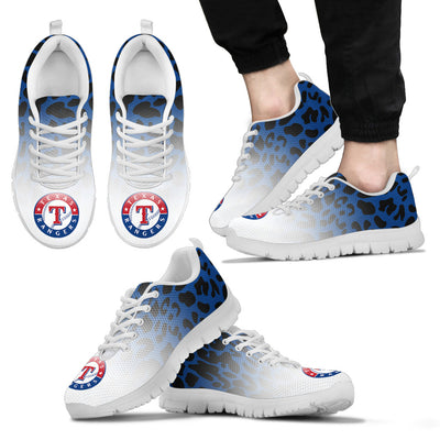Leopard Pattern Awesome Texas Rangers Sneakers