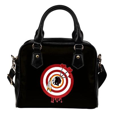 Valentine Sweet Washington Redskins Dart Couple Love Shoulder Handbags