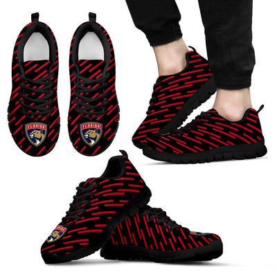 Marvelous Striped Stunning Logo Florida Panthers Sneakers