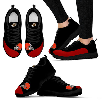 Valentine Love Red Colorful Cleveland Browns Sneakers