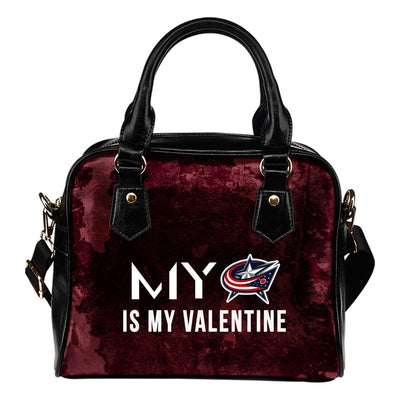 My Perfectly Valentine Fashion Columbus Blue Jackets Shoulder Handbags
