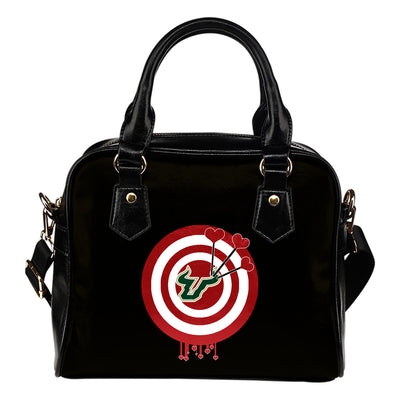 Valentine Sweet South Florida Bulls Dart Couple Love Shoulder Handbags