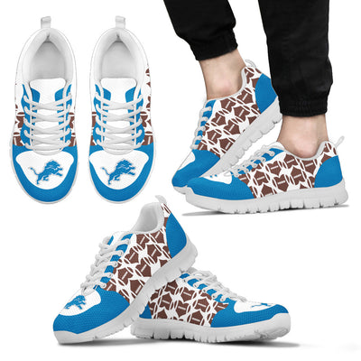 Great Football Love Frame Detroit Lions Sneakers