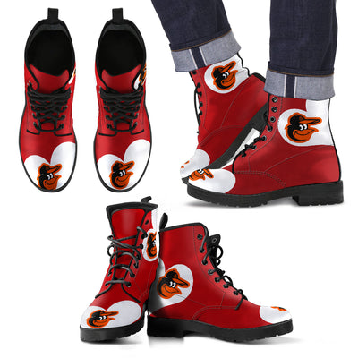 Enormous Lovely Hearts With Baltimore Orioles Boots