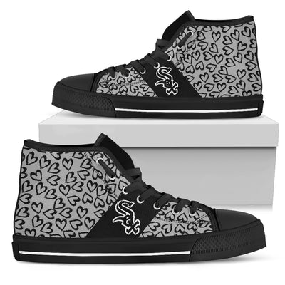 Perfect Cross Color Absolutely Nice Chicago White Sox High Top Shoes