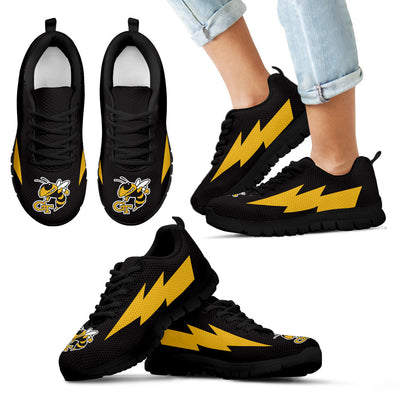 Hot Georgia Tech Yellow Jackets Sneakers Thunder Lightning Amazing Logo