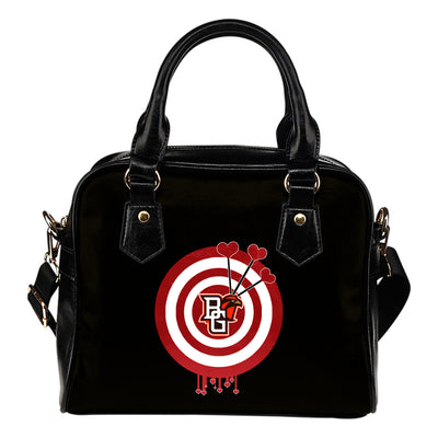 Valentine Sweet Bowling Green Falcons Dart Couple Love Shoulder Handbags