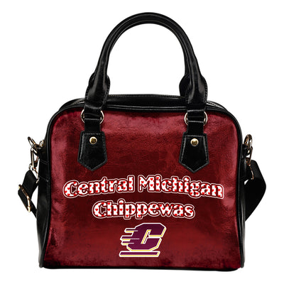 Love Icon Mix Central Michigan Chippewas Logo Meaningful Shoulder Handbags