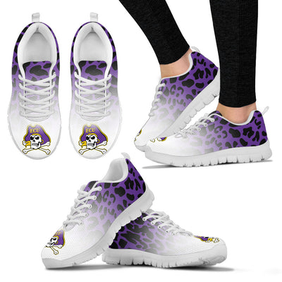 Leopard Pattern Awesome East Carolina Pirates Sneakers
