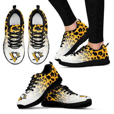 Beautiful Pittsburgh Penguins Sneakers Leopard Pattern Awesome