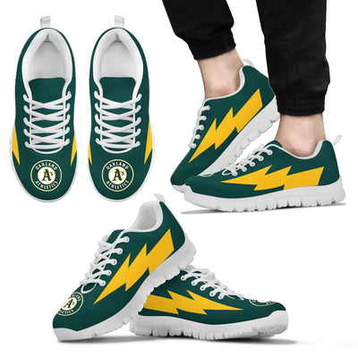 Lovely Style Oakland Athletics Sneakers Thunder Lightning Amazing Logo