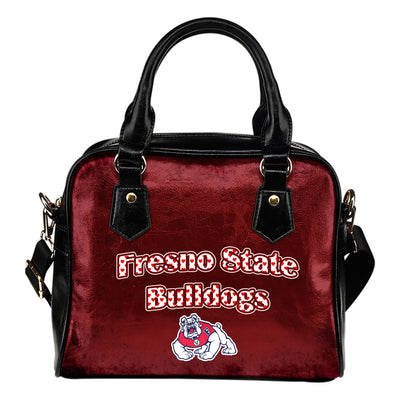 Love Icon Mix Fresno State Bulldogs Logo Meaningful Shoulder Handbags