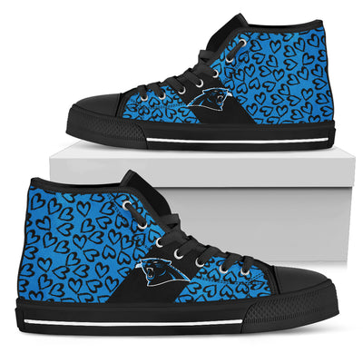 Perfect Cross Color Absolutely Nice Carolina Panthers High Top Shoes