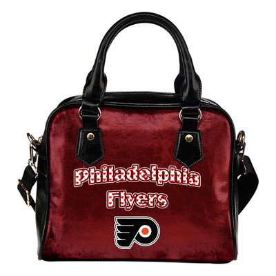 Love Icon Mix Philadelphia Flyers Logo Meaningful Shoulder Handbags