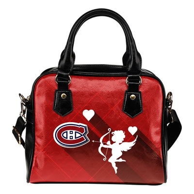 Superior Cupid Love Delightful Montreal Canadiens Shoulder Handbags